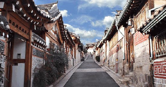 Hanok Village Di Korea